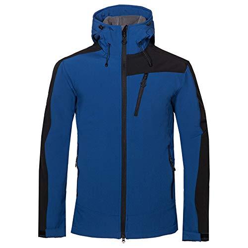 Starry Sky herenjack, kort, sport en vrije tijd, afneembare softshell-cap, winterbestendig, warm gevoerd ski-jack, winddicht jack