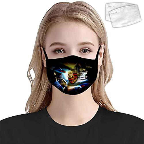 HOWKK M-a-ck Truck-Gesichts-Mundabdeckung mit 2 Filtern, Anti-Staub, wiederverwendbare Bandanas, Schal im Freien für Erwachsene und Kinder Gr. Einheitsgröße, Weiß5