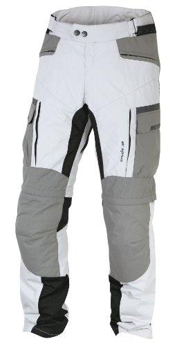 Nerve G-Drive Touring Pantalones de Moto, Gris Claro/Blanco, L