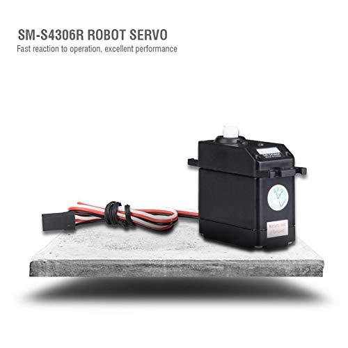 Dilwe RC Roboter-Servo, SM-S4306R 360-Grad-Servo mit kontinuierlicher Rotation für das Zubehörteil der Fernbedienung