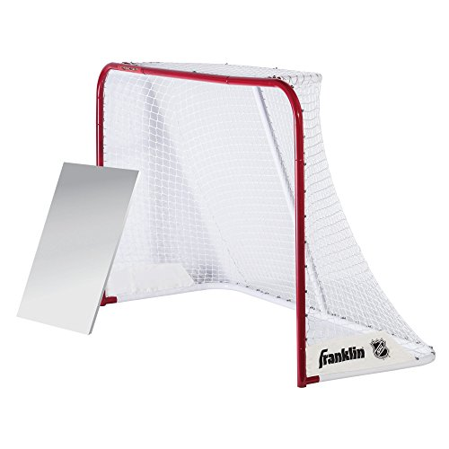 Franklin Sports Hockey Goal - NHL - Steel - 72 Inches - with Shooting Board - Quickset