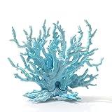 tJexePYK Ornamento Planta Artificial Coral Fish Tank decoración Flotante Sea Aquarium Simulación Coral Blue 1pc Tamaño Pequeño