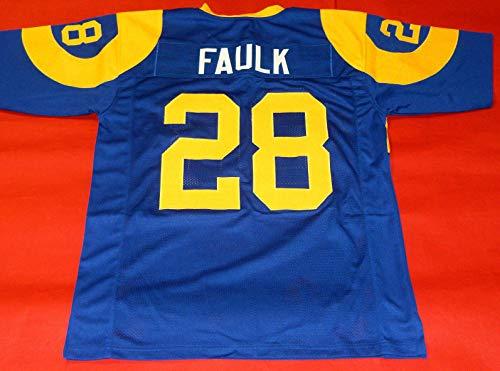 MARSHALL FAULK BLUE ST. LOUIS THROWBACK CUSTOM STITCHED NEW FOOTBALL JERSEY MEN'S XL