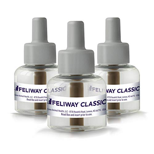 Feliway Plug-In Diffuser Refill, 48 mL, 3-Pack, Model:3PK
