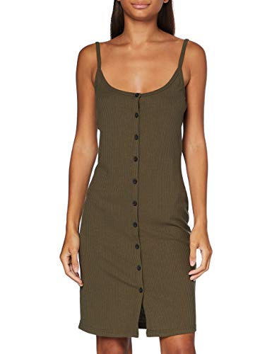 Noisy may Damen NMMOX S/L Dress Color Kleid, Olive Night, L