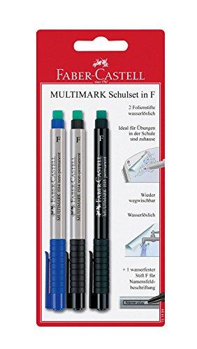 Faber-Castell 151494 - Schulset Multimark, Strichbreite: F, 3-teilig
