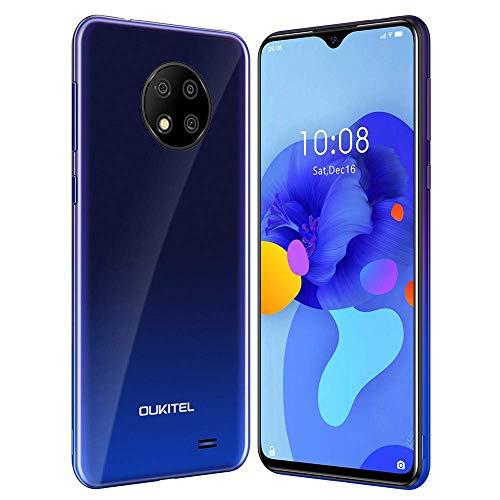 Oukitel C19 Smartphone,Cellulari Offerte,Telefono cellulare Android 10.0 4G,6.49inch Goccia D acqua Schermo,Batteria 4000mAh,Tripla fotocamera 13MP,2 GB+16 GB 256GB Espandibili,Dual SIM,blu