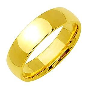 Gemini Damen-Ring Titan , Herren-Ring Titan , Freundschaftsringe , Hochzeitsringe , Eheringe, Farbe Gold, Breite 6mm Größe 53 - 77