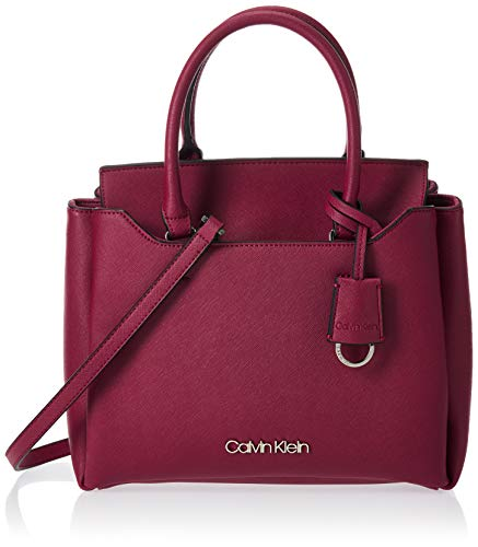 Calvin Klein Worked Sml Tote, Cabas femme, Rouge...