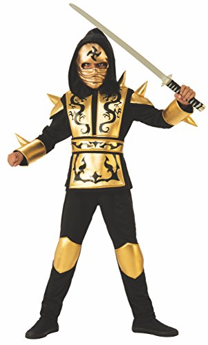 Rubie's boys Gold Ninja Child s Costume, as shown, Medium US