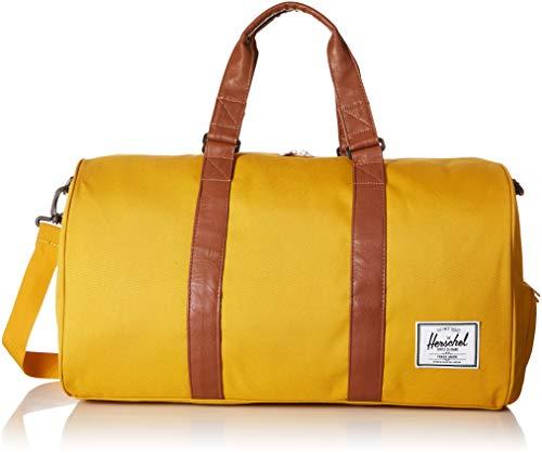 Herschel Novel Duffel Bag, Arrowwood/Tan Synthetic Leather, Classic 42.5L