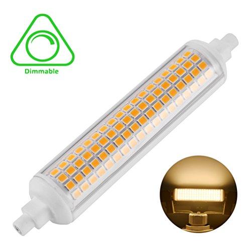 LEDGLE 10W Bombillas LED R7s Base de cerámica 108-LED SMD2835 Regulable 950-1015 lúmenes para iluminación interior-Blanco cálido
