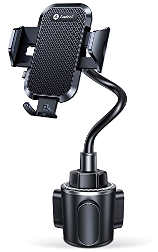Andobil Cup Holder Phone Mount, [Never Hurt the Car] Adjustable Long...