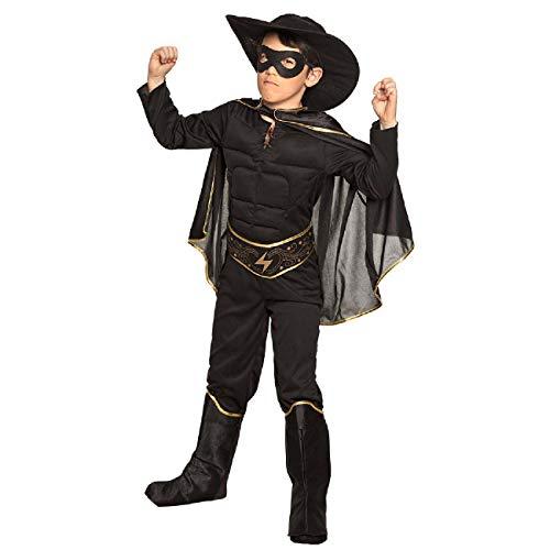 Boland 82291 – Costume pour enfant de 10 à 12 ans, chapeau, masque, cape, ceinture, mannequin de bottes, déguisement, déguisement, Zorro, fête à thème, carnaval
