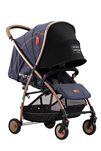 Baciuzzi Italy, silla de paseo ultraligera, compacta con cremallera simple y práctica a una mano, transpirable, full opcional, BX Jeans AZUL