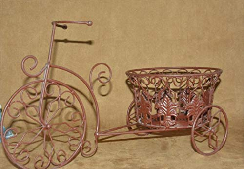shunlidas Pot De Plantes Rétro Inneneinrichtung Europäischen Fahrrad Eisen Kunst Rahmen Mode Dekoration Rahmen Kreative Metallkunst Rahmen Größe 47 * 21,5 * 26