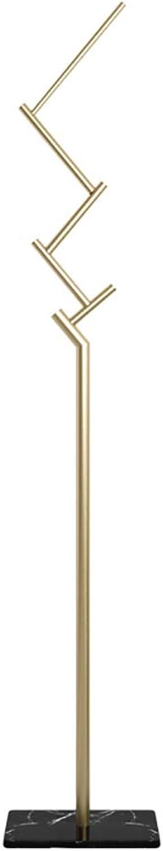 KTOL Marble Metal Coat Rack, Free Standing Coat Hall Tree 6 Hooks Stable Non-Slip Clothes Storage Shelves for Scarf Jacket Hat Hanger-Black 66.9in