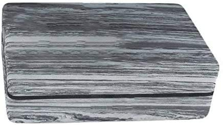 Jilibaba Ladrillo de corcho de alta densidad yoga ladrillo casa fitness ladrillo arco iris bloque auxiliar soporte gris negro