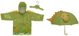 Dinosaur Raincoat and Umbrella Set