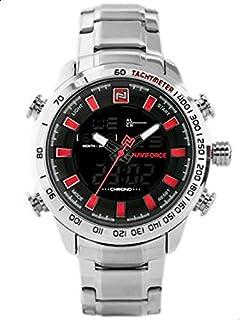 Naviforce Sport Watch For Men Analog-Digital Stainless Steel - NF9093-RD