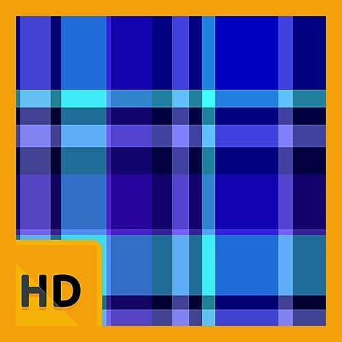 Blue Plaid and Stripes HD FREE Wallpaper