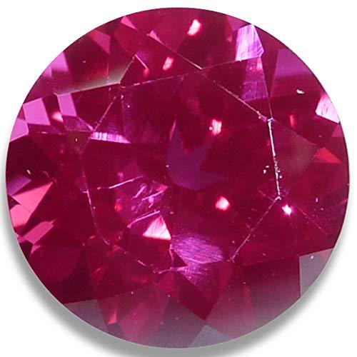 OptimaGem Lab Ruby Round 4mm-12mm Loose Gemstones (4mm)