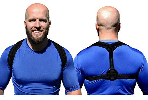 Life Ergonomics - Posture Corrector Clavicle Support Brace - Improve Bad Posture, Relieve Upper Back Pain and Thoracic Kyphosis, Stand Tall and Confident   For Women and Men