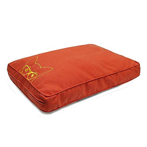 ZISTA hondenkat huisdier winterwarme mats bont bed pad zelfthermogend tapijt thermisch wasbaar kussen mat slipcover,rood, S