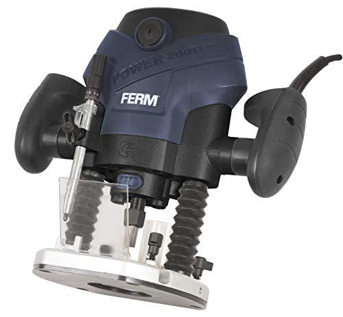 FERM Fresatrice verticale 1300W. Include 6 frese, guida parallela, illuminazione LED e...