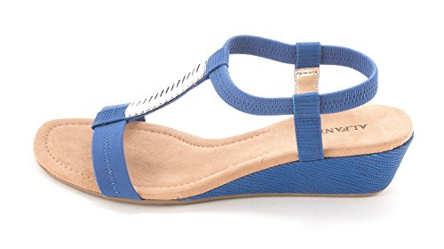 Alfani Vacay Women US 8 Blue Sandals