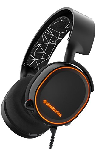 SteelSeries Arctis 5- Auriculares para juego, Iluminación RGB, DTS 7.1 Surround para PC, PC, Mac,PlayStation 4 ,Android,iOS,VR, color Negro