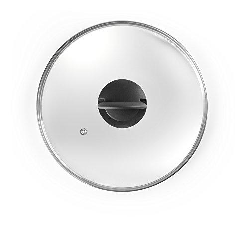 IBILI 970714 Couvercle en Verre, Transparent, 14 x 14 x 3 cm