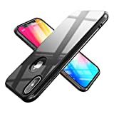 NALIA Funda Compatible con Apple iPhone X XS, Ultra-Fina Rigida Carcasa Móvil Protectora Delgado Cubierta, Slim Hard-Case Thin-Fit Telefono Bumper Smart-Phone Cover Elegante Dura Estuche, Color:Negro
