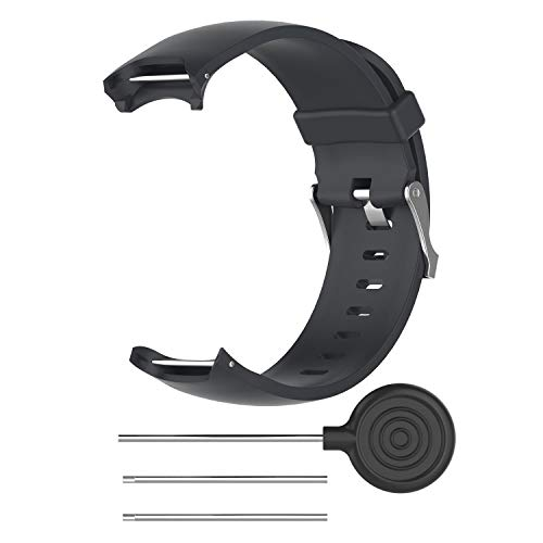 AKDSteel Wrist Band for Gar-min Approach S3 GPS Watch Elegant Silicone Watch Strap with Tool Individualized Adjustment Black Convenient