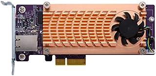 Qnap QM2-2P10G1T 双 NVMe M.2 22110/2280 PCIe SSD 和单个 10GBASE-T 10GbE 网络扩展卡(PCIe Gen2 x 4),半高支架预装,扁平和全高套装,不含 SSD