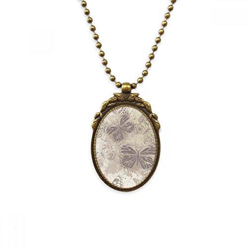 DIYthinker Elegante Vintage Gris Mariposa Papel Pintado latón Antiguo Collar Vintage Colgante...