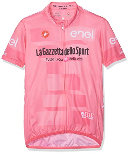 castelli # Giro102 Kid Jersey, Camiseta de Ciclismo Unisex para niños, Unisex niños, 9510216, Rosa Giro, 12Y