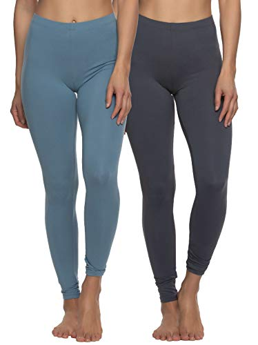 Felina Velvety Super Soft Lightweight Leggings 2-Pack - for Women - Yoga Pants, Workout Clothes (Cool Beach, X-Large)
