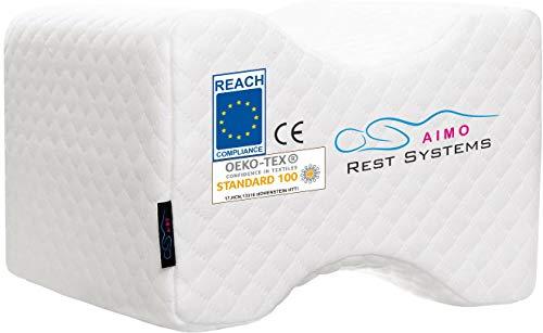AIMO Spain Almohada cojín para piernas ortopédico de Rodilla KP-001, Facilita el Dormir de Lado, Alivia Dolores de Espalda, Caderas, ciática