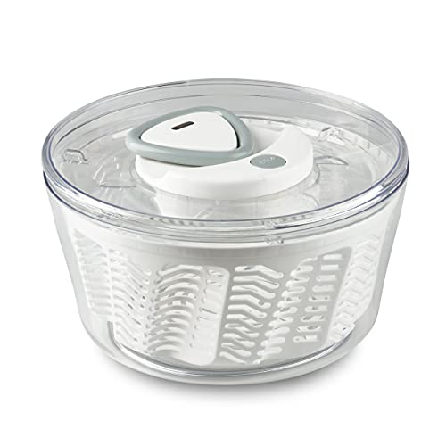 Zyliss E940017 Easy Spin 2 Salad Spinner-Large White Centrifuga per Insalata, Plastica, Bianco