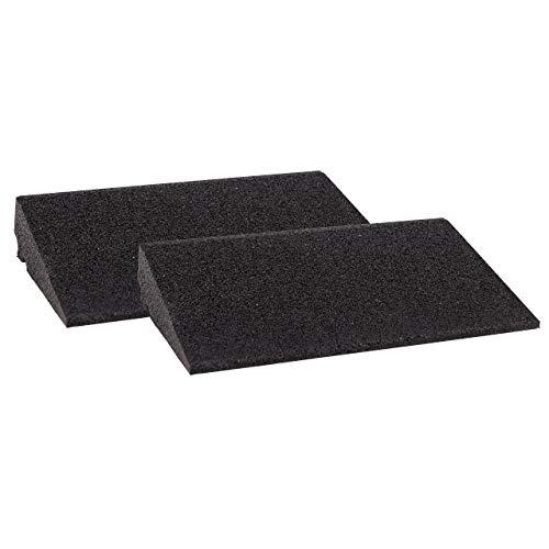 Bordsteinrampe Gummi LxBxH: 400x250x70 mm Set = 2 Stück schwarz (Rampe Gummikeil Rollstuhlrampe Auffahrrampe Auffahrkeil Auffahrhilfe Türschwellenrampe, Autorampe)