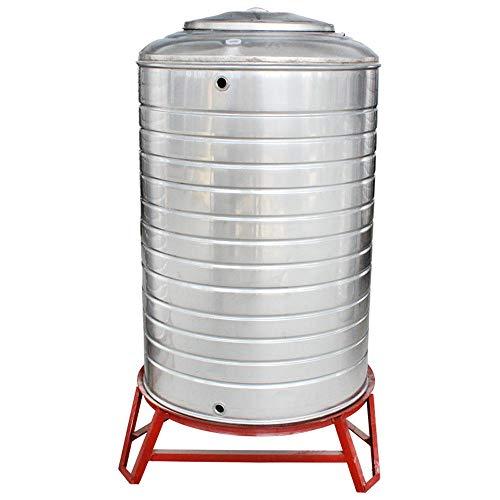 XXcd Haushalts-Wassertank aus Edelstahl für den Außenbereich, vertikal, verdickter Wasserturm, solarbetriebene Dachaufbewahrung, Wasserspeicher, kann mit kochendem Wasser befüllt Werden, D50xH60cm