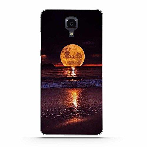 FUBAODA für Xiaomi mi4 Hülle, Schöne Aurora Night Series TPU Case Schutzhülle Silikon Case für Xiaomi mi4