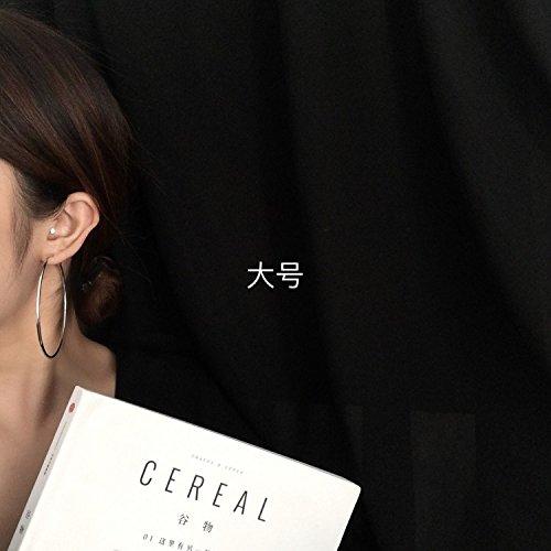 BAOZIV587 Oorbellen Crystal Fashion Mango decoratie minimalistische stijl Europese en Amerikaanse straat schieten grote ronde cirkel oorbellen oorbel oorsieraden vrouwen graphics gezicht een groot aantal R, een diameter van ongeveer cm