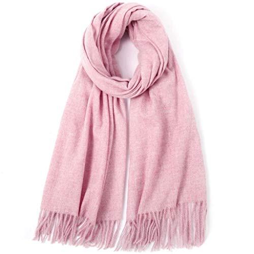 SUFLANG dames sjaal oversized effen kleur zachte sjaal winter herfst warme sjaals extra lange dames sjaals wrap 210x80CM roze