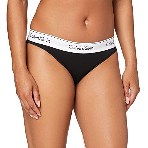 Calvin Klein Modern Cotton-Bikini Slip, Nero (Black 001), M Donna
