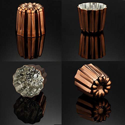 CHEFMADE Kupfer Canele Form, 2-zoll Nicht-Stick Cannele Muffin Tasse Verzinnt Innen Gemacht In Italien