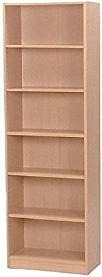 不二貿易 多目的棚 6段 幅広 幅59×奥行29.5×高さ180cm メープル 57095