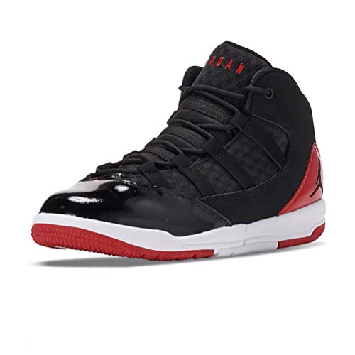 Nike Jungen Jordan MAX Aura (PS) Basketballschuh, Black Black Gym Red White, 28 EU