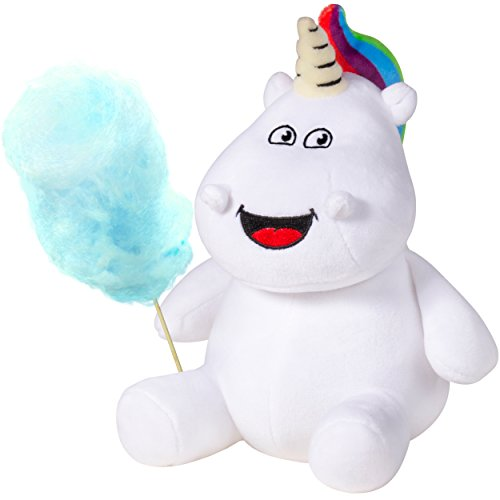 Sparkle Toots Cotton Candy Bundle - Includes Tooting Unicorn 8' Plush and Delicious Cotton Candy - Blueberry Flavored, Gluten Free, USA Made - Unique Gag Gift, Funny for All Ages